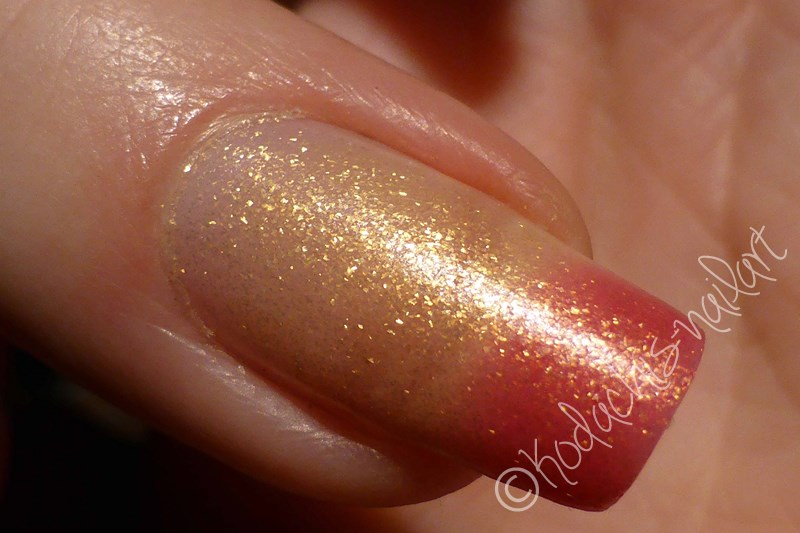 Liquid Sky Laquer - 24 Karat Rose Finger Transition