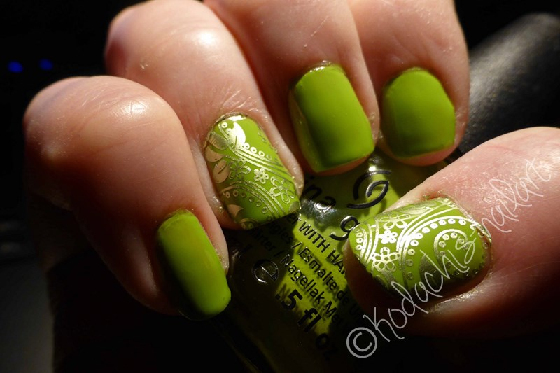 China Glaze - Def Defying - Stamping two