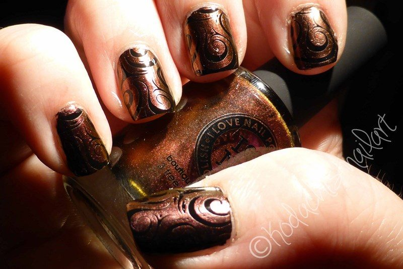 Undenied stamping over Black