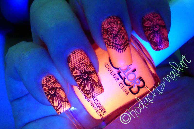 Color Club Kapow! Stamping Mani Blacklight