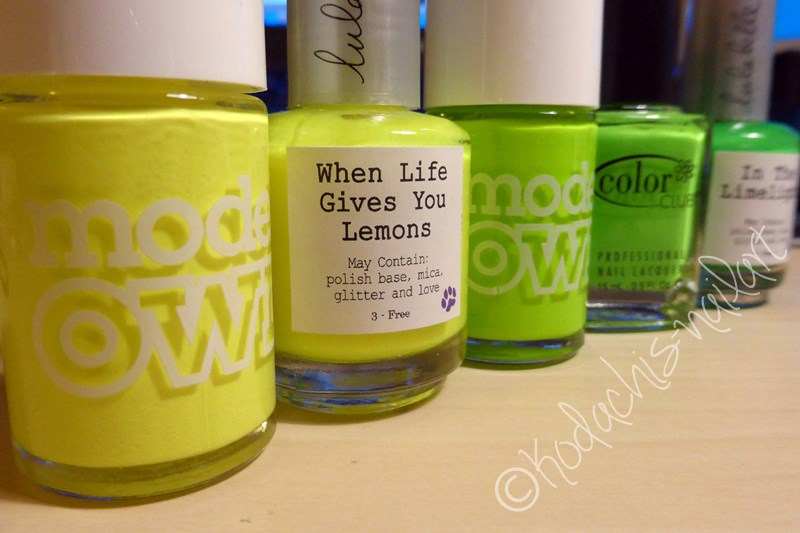 Neon Ombre used bottles