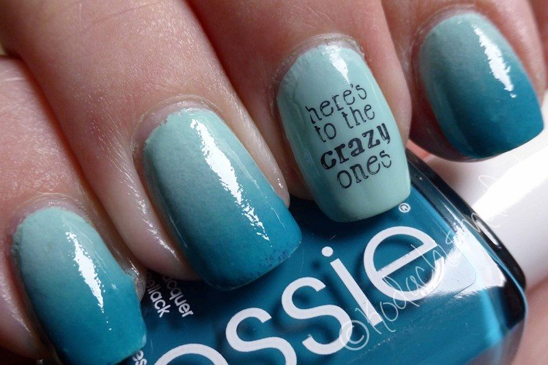 Gradient mit Essie in Mint – Here's to the crazy ones