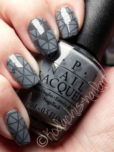 Opi – 50 Shades of Grey Stamping