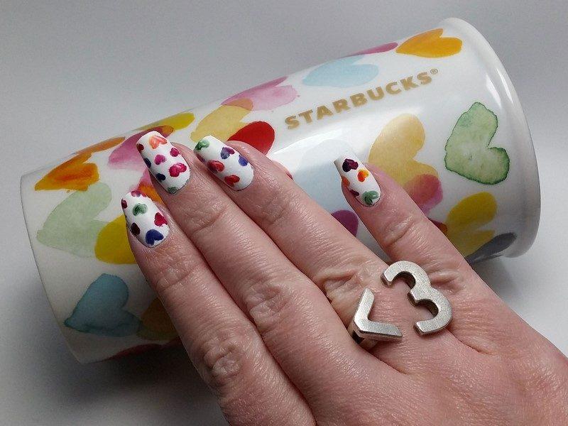 Essie Starbucks Hearts Mug Mani