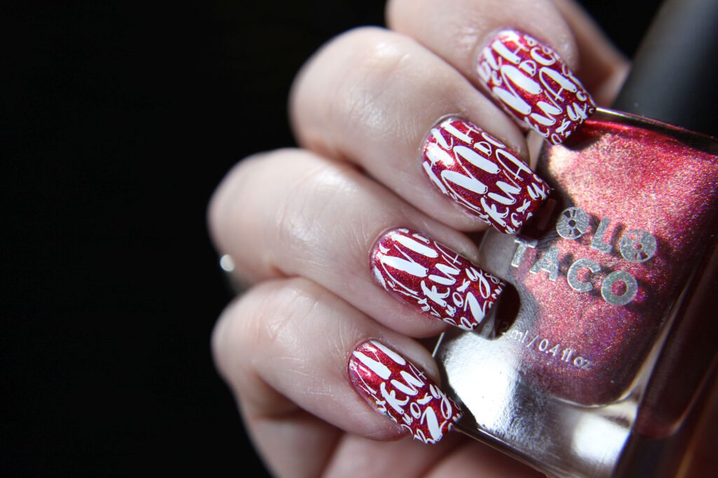 Holo Taco - Red Licorice - Stamping